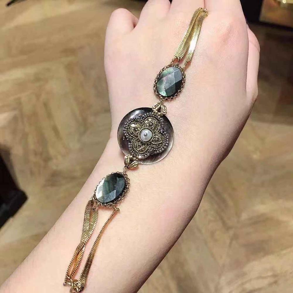 St黑母贝设计款手链