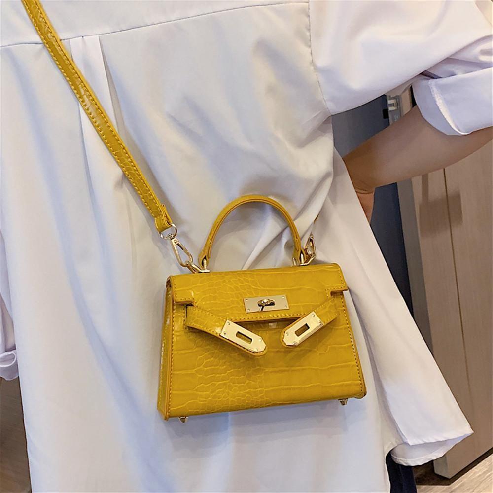 日本直邮包包女包潮鳄鱼纹质感斜挎包时尚手提包