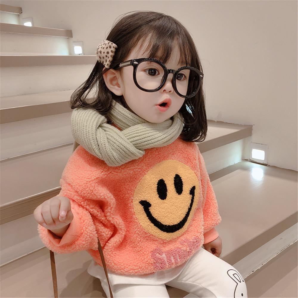 日本女童冬季新款童装中小童宝宝卡通加绒卫衣儿童百搭潮款打底衫