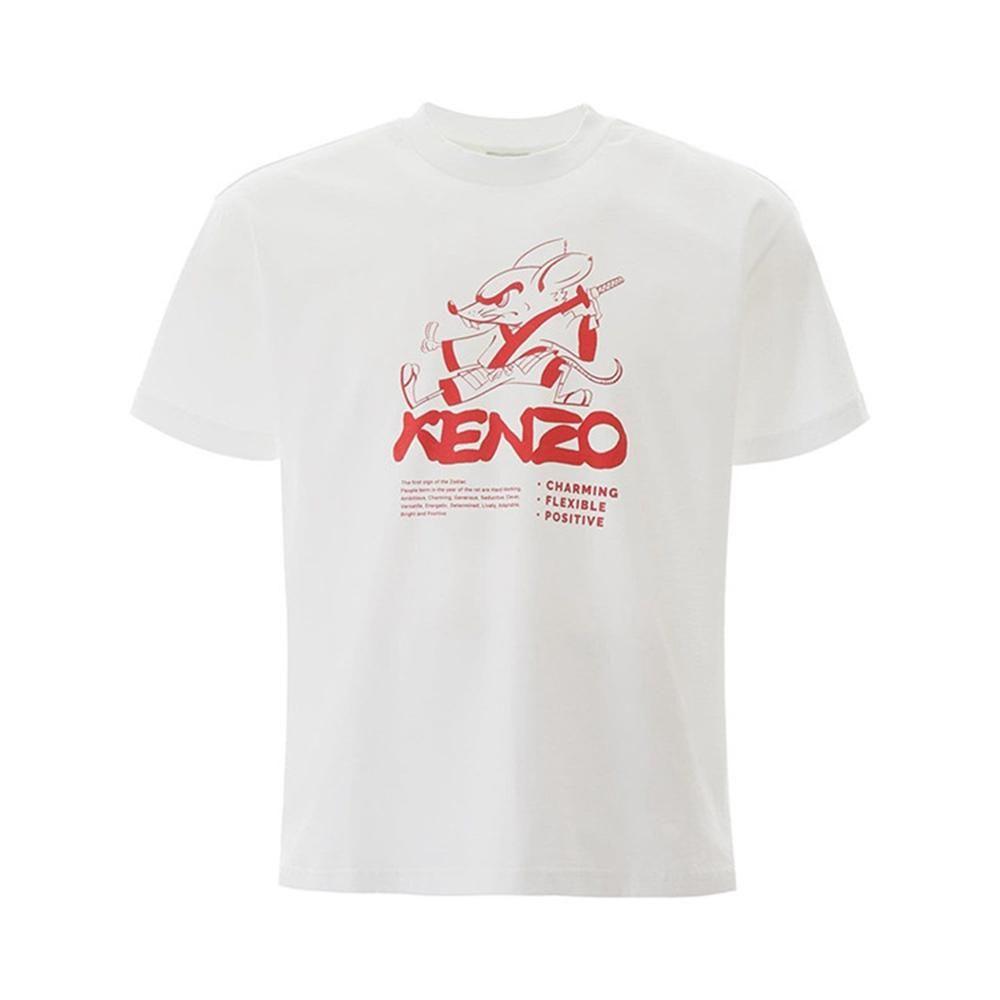 kenzo高田贤三 20新款功夫鼠男士短袖T恤 FA55TS5134W5