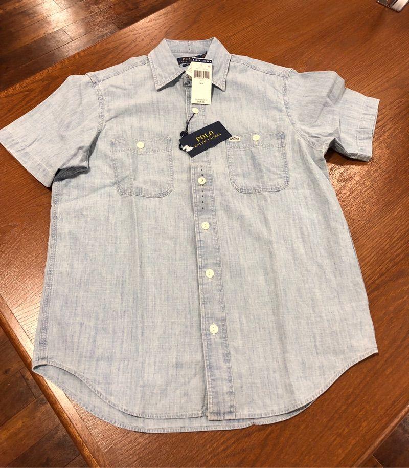 Ralph Lauren 拉夫劳伦男士夏季纯棉短袖衬衫 经典款