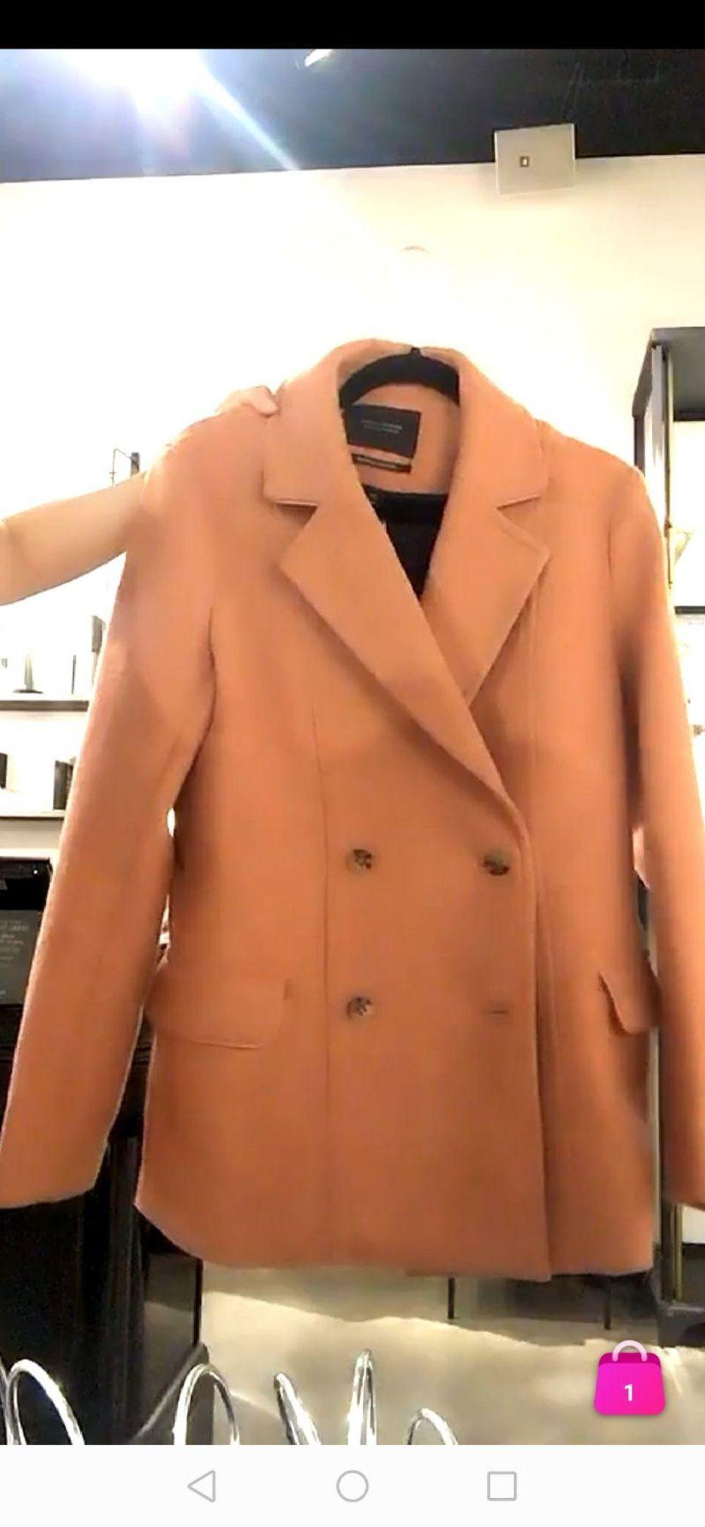 Scotch&Soda羊毛混纺橘色双排扣大衣(直播商品不退不换)