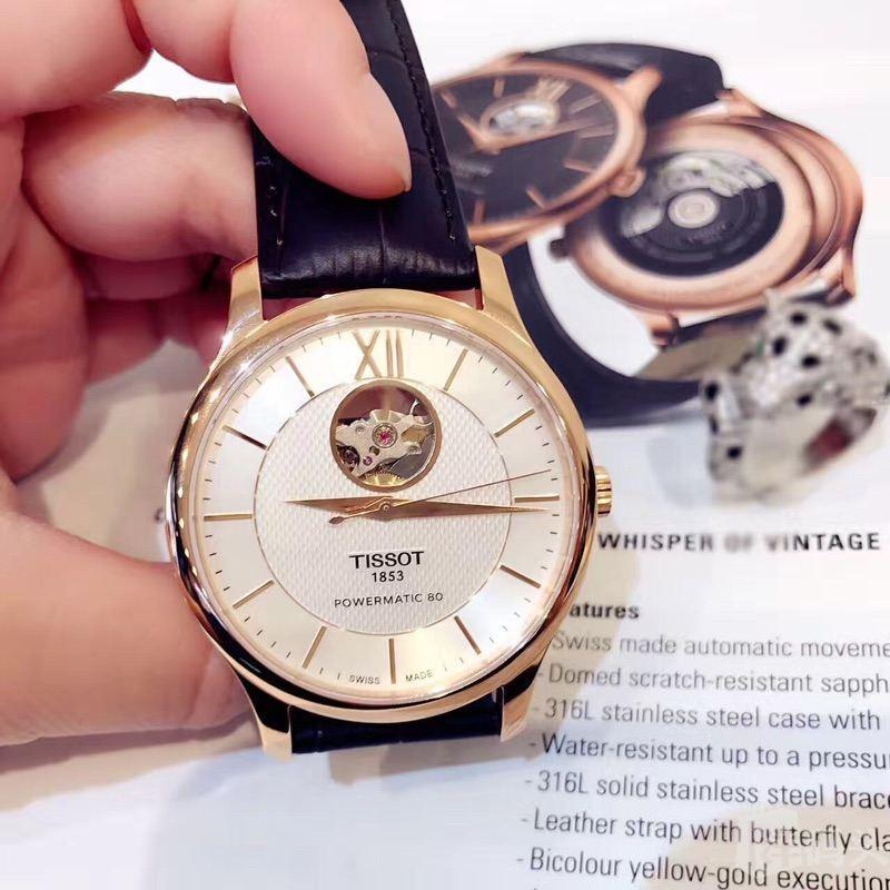 瑞士TISSOT名表—天梭机械男款手表这款被称为打开心扉的独特设计