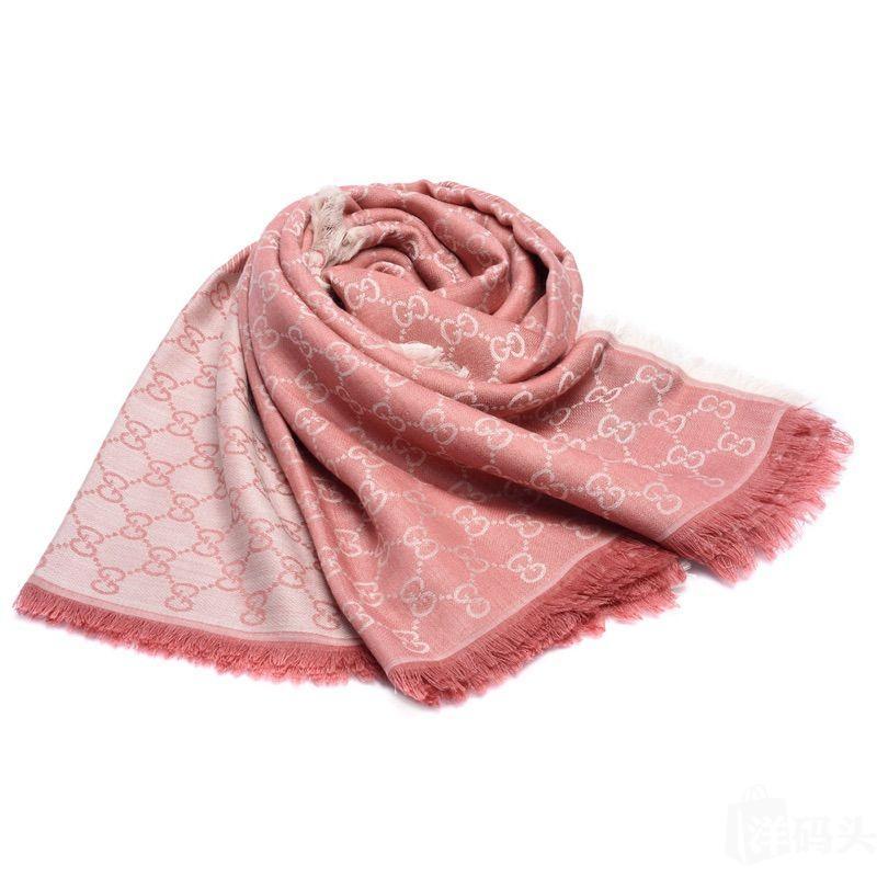 【国现秒发】Gucci古驰明星同款经典GG印花羊毛大方巾围巾披肩