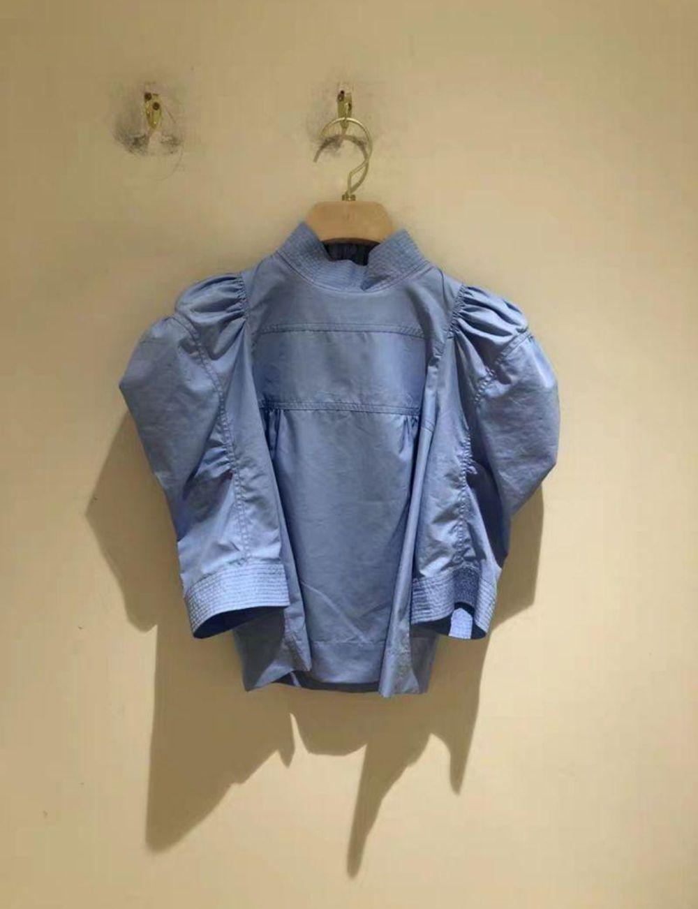 克洛伊 2折 Chloe 女士蓝色小立领蓬蓬袖上衣 2450