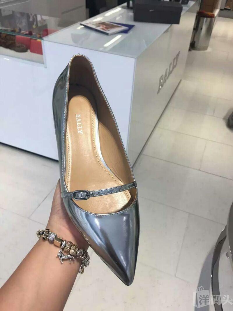 bally 女士镜面漆皮尖头鞋 39码 1580元