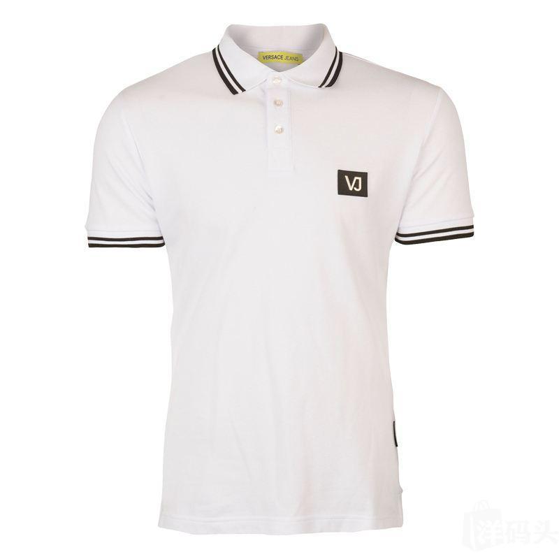 Versace Jeans范思哲男士胸前铁标修身短袖POLO衫B3GRA7P3