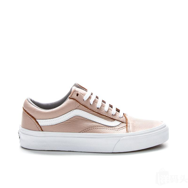VANS Old Skool 皮质款 粉色板鞋