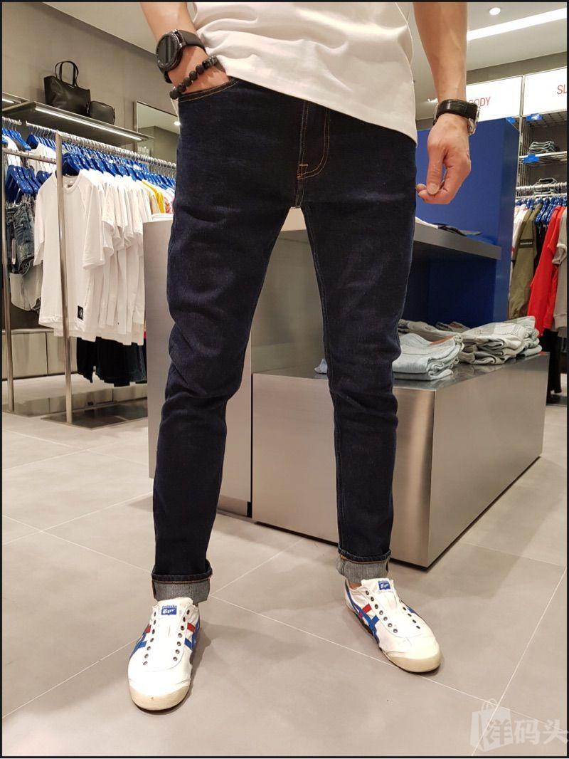 韩国Calvin Klein牛仔裤男 CK牛仔裤男 CK男士牛仔长裤锥子版型