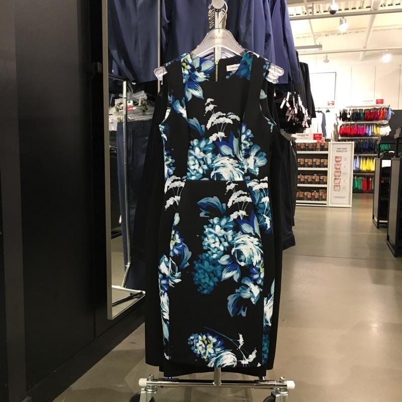 Calvin Klein Jeans女士礼服花卉连衣裙369,10码,胸94*腰78
