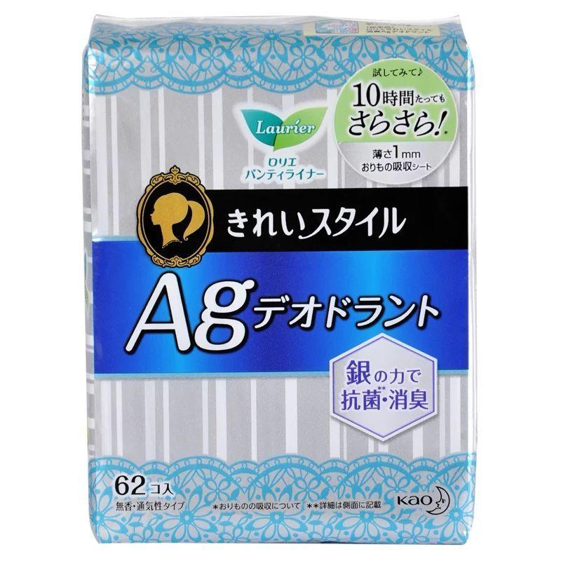 花王乐而雅卫生巾银离子护垫棉柔表层去异味护垫62片140mm三包