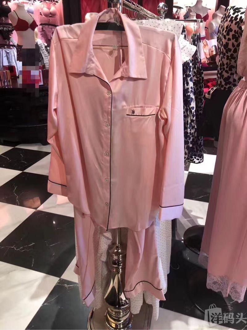 现货维秘经典粉色睡衣套装