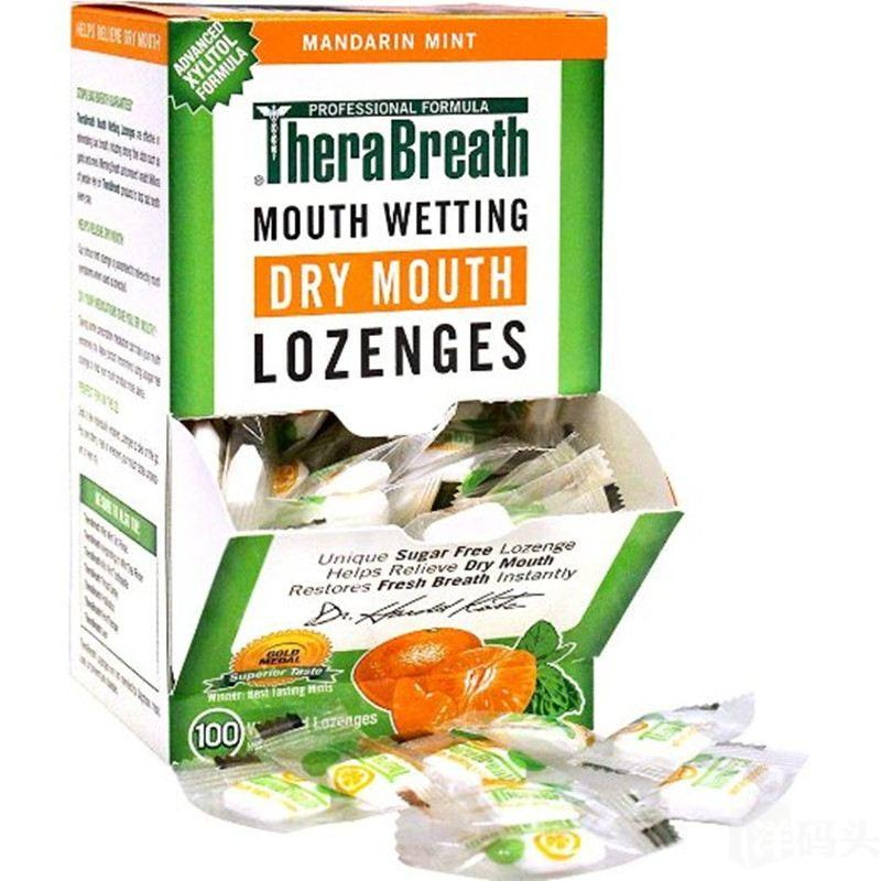 Therabreath去除口臭 喉宝天然柑桔薄荷糖1粒 消除口腔异味 100粒