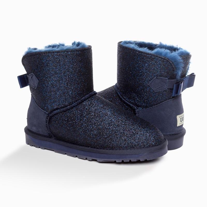 OZWEAR UGG雪地靴 闪亮星空雪地靴纯羊毛内里保暖防滑短靴 OB402