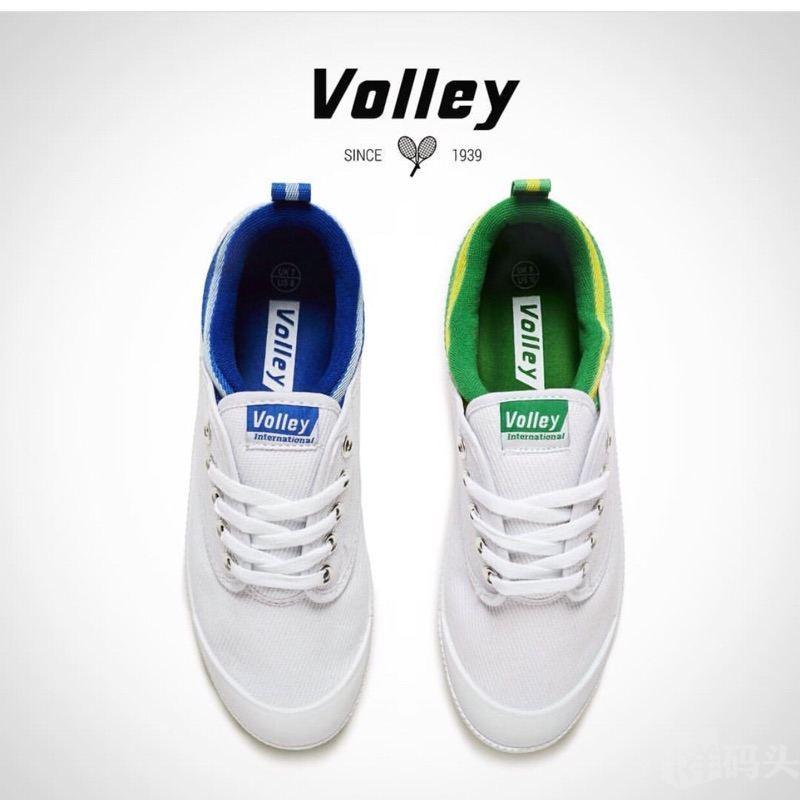 专柜正品volley australia 帆布鞋王菲同款 小绿尾 小