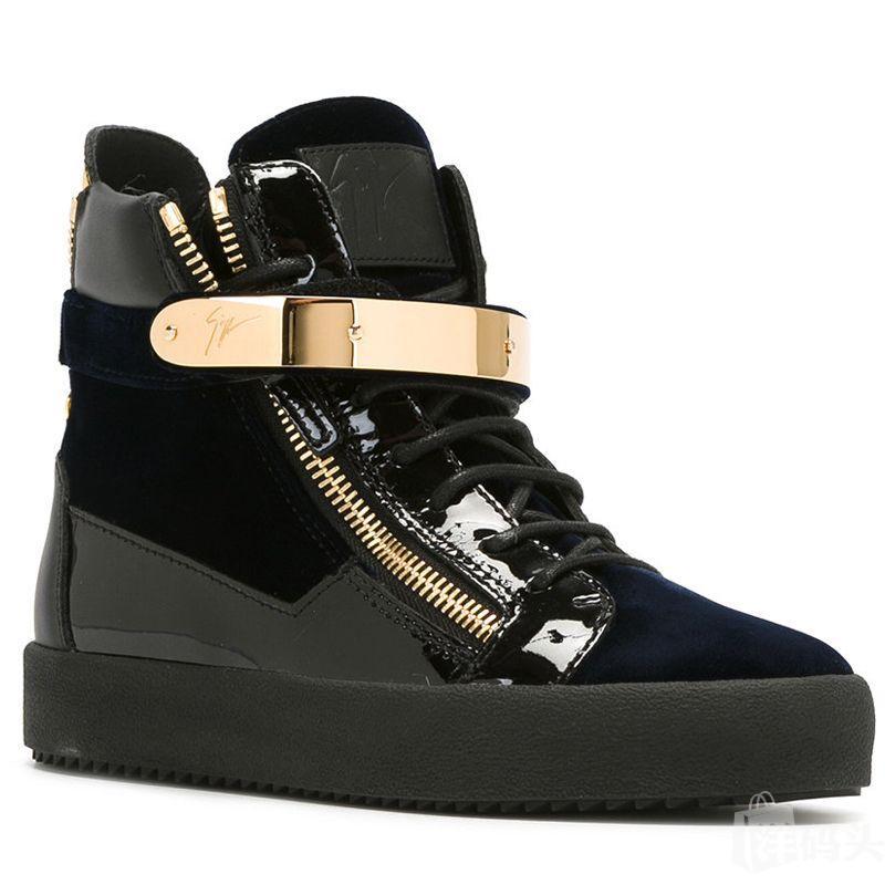 Giuseppe zanottiGZ女士休闲高帮鞋 RW70023深蓝色