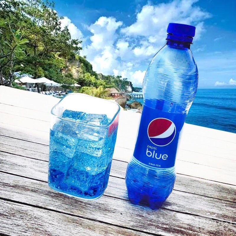 2瓶起 百事可乐巴厘岛蓝色可乐450ml 梅子味碳酸汽水饮料