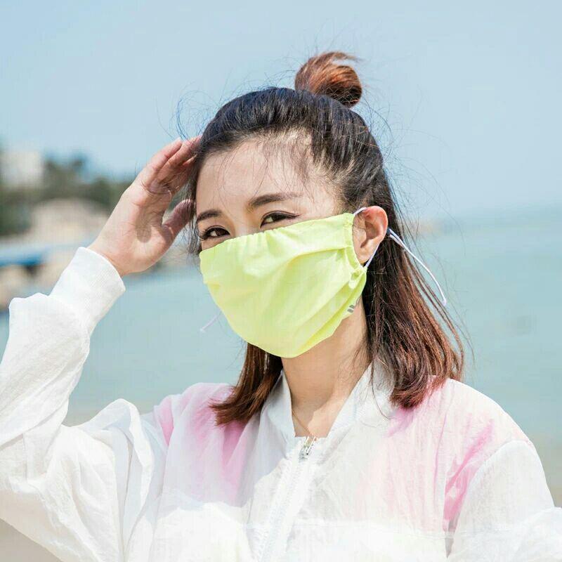 VVC防晒口罩薄款冰丝光疗美肤防尘冰凉透气运动户外