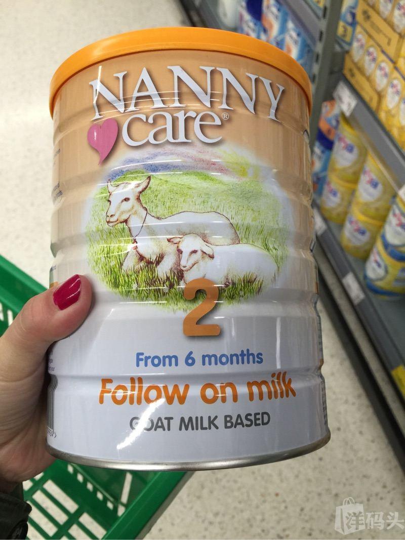 英国nanny care 婴儿羊奶粉二段英国直发包邮包税三罐起运