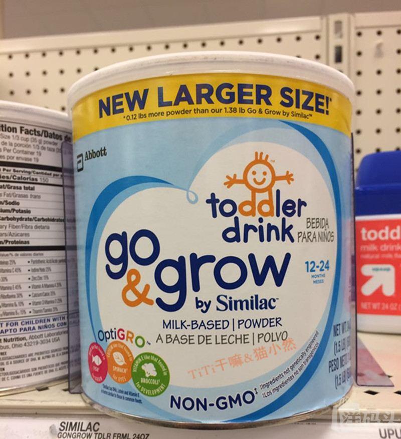 2罐 雅培Similac三段/3段奶粉非转 基因益生菌加铁三段奶粉 680g
