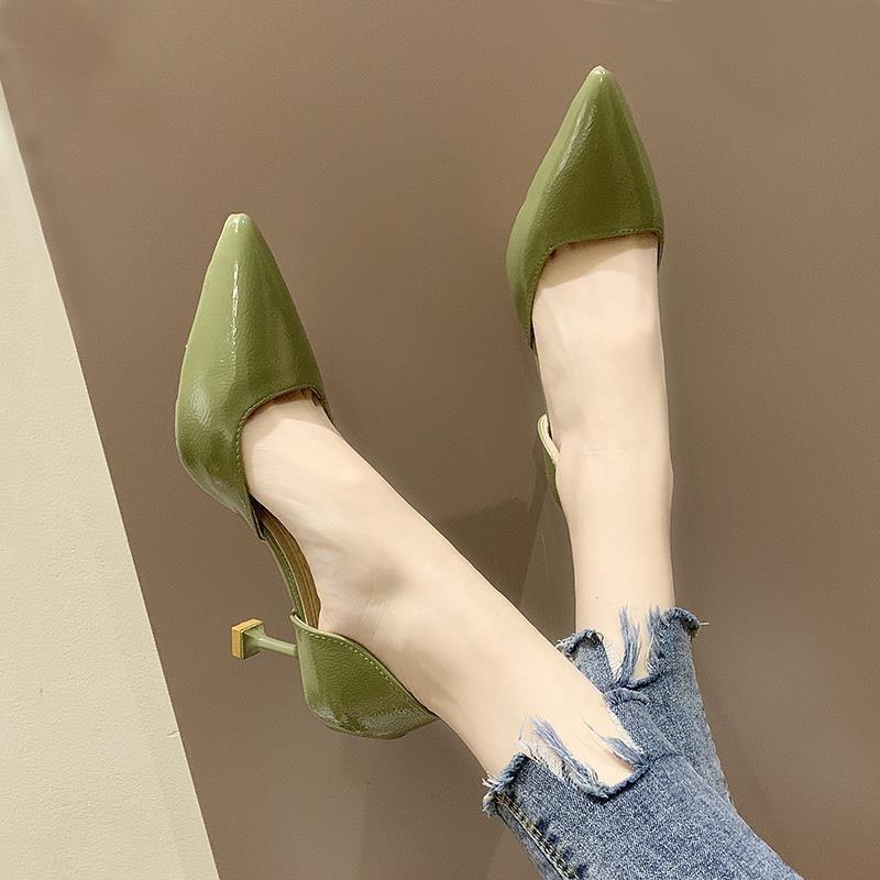 日本直邮凉鞋女夏季女鞋仙女风百搭性感浅口单鞋小清新高跟鞋少女