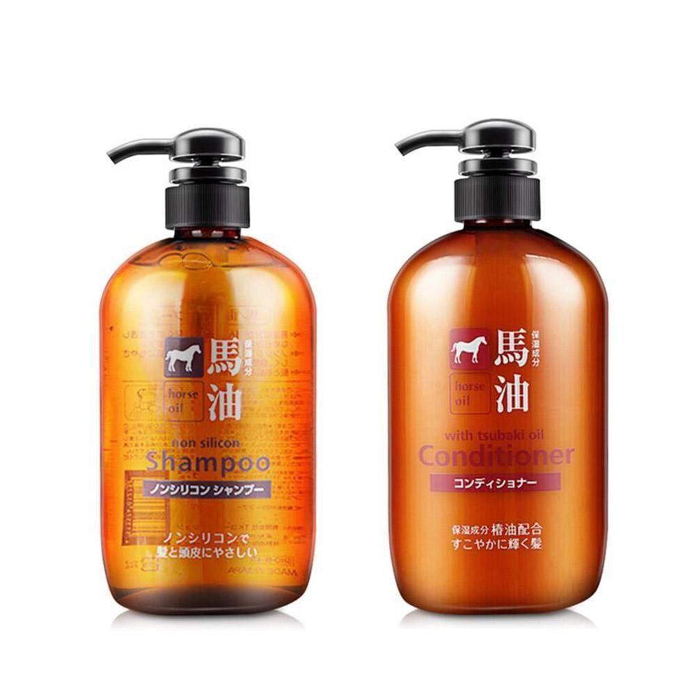 日本马油洗护 熊野马油洗发水/护发素 600ml无硅油修护滋养发
