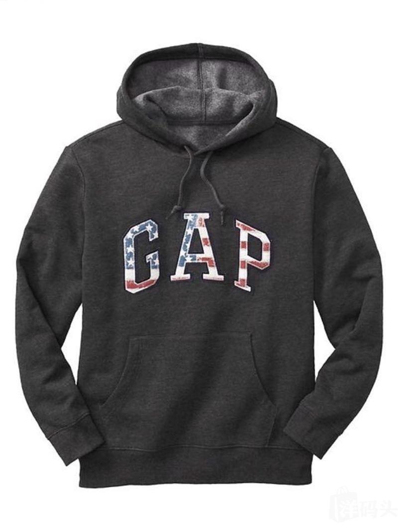 新年 GAP 盖普 男款套头卫衣 内有抓绒  型男单品