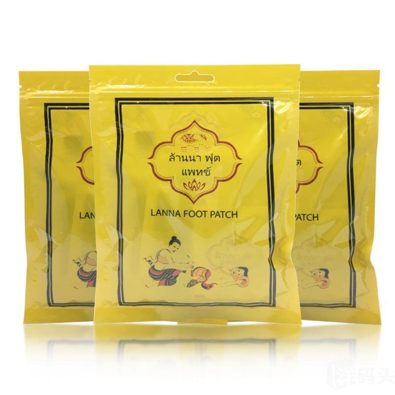5包 泰国Lanna兰纳足贴 5包*10贴/包 提高睡眠质量