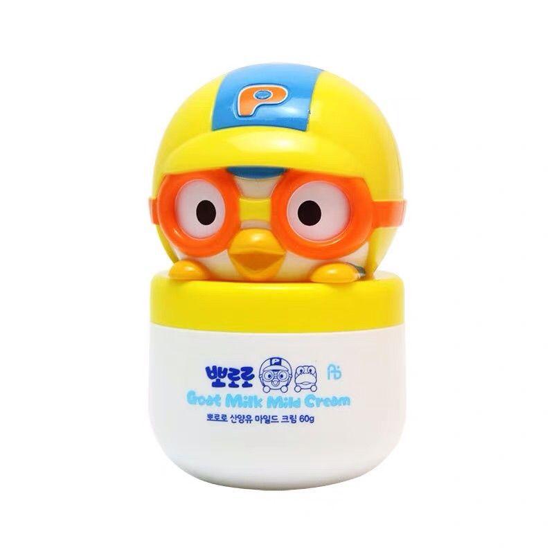 韩国进口pororo啵乐乐山羊奶宝宝保湿润肤霜宝露露婴儿童护肤面霜
