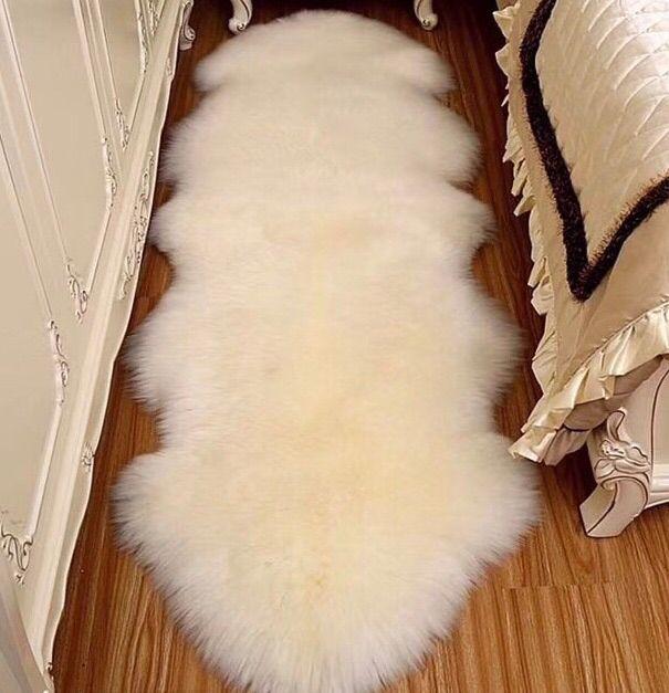 羊皮沙发坐垫 澳洲整张羊皮沙发坐垫 小羊皮 大羊皮 双拼羊皮