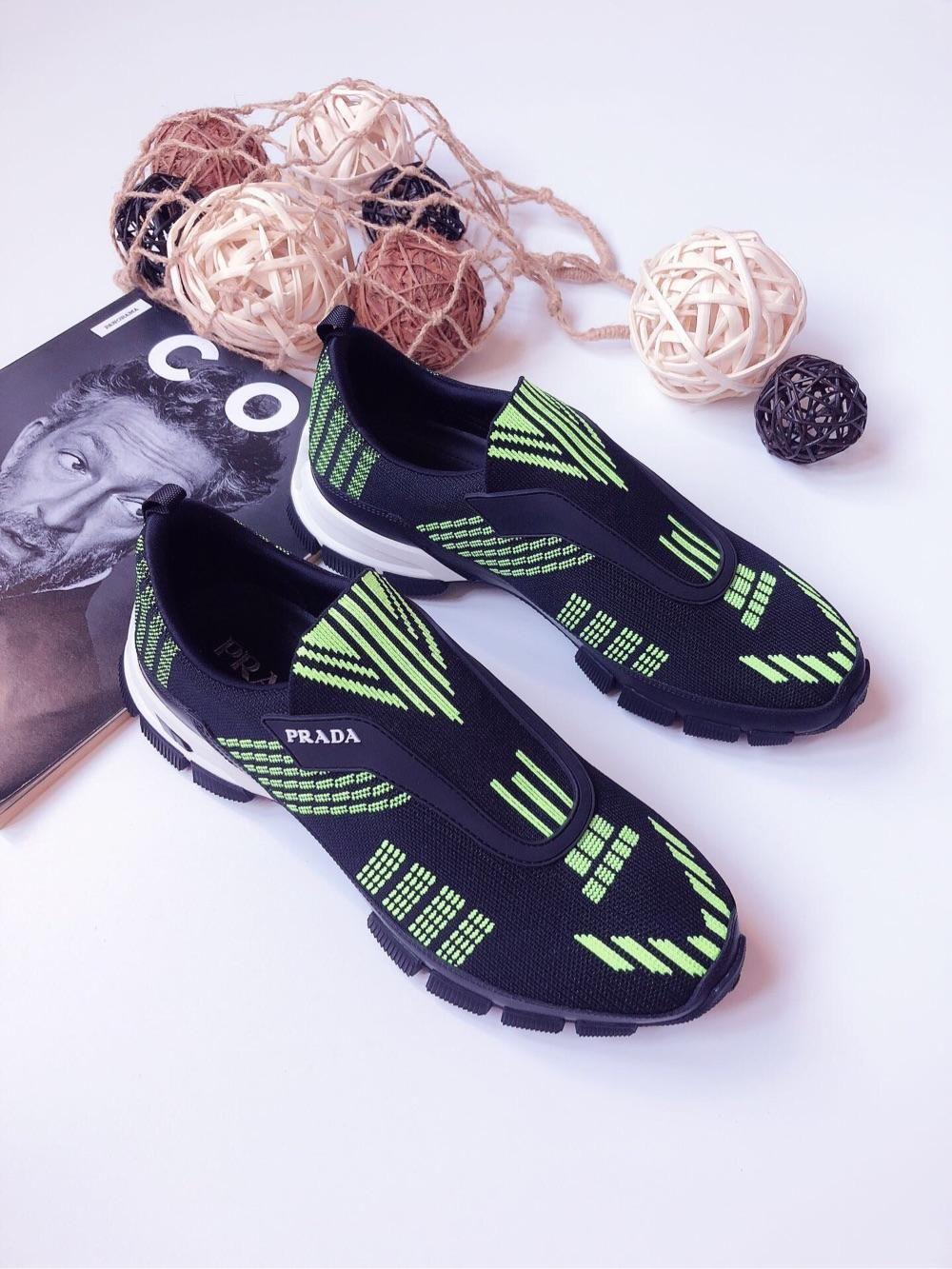 【Amily意大利】prada普拉达 男士编织运动鞋一脚蹬