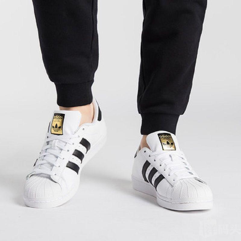 Adidas 阿迪达斯三叶草superstar金标贝壳头小白鞋男女板鞋C77124