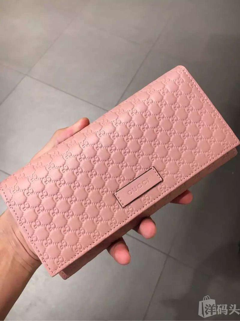 Gucci古驰 经典logo长款钱包 多卡槽大钞夹 单面按扣 两个颜色