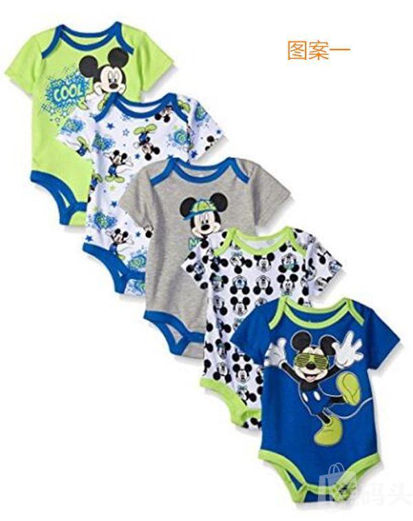 迪斯尼Disney新生儿/宝宝/儿童连体衣、爬服、哈衣 5件套