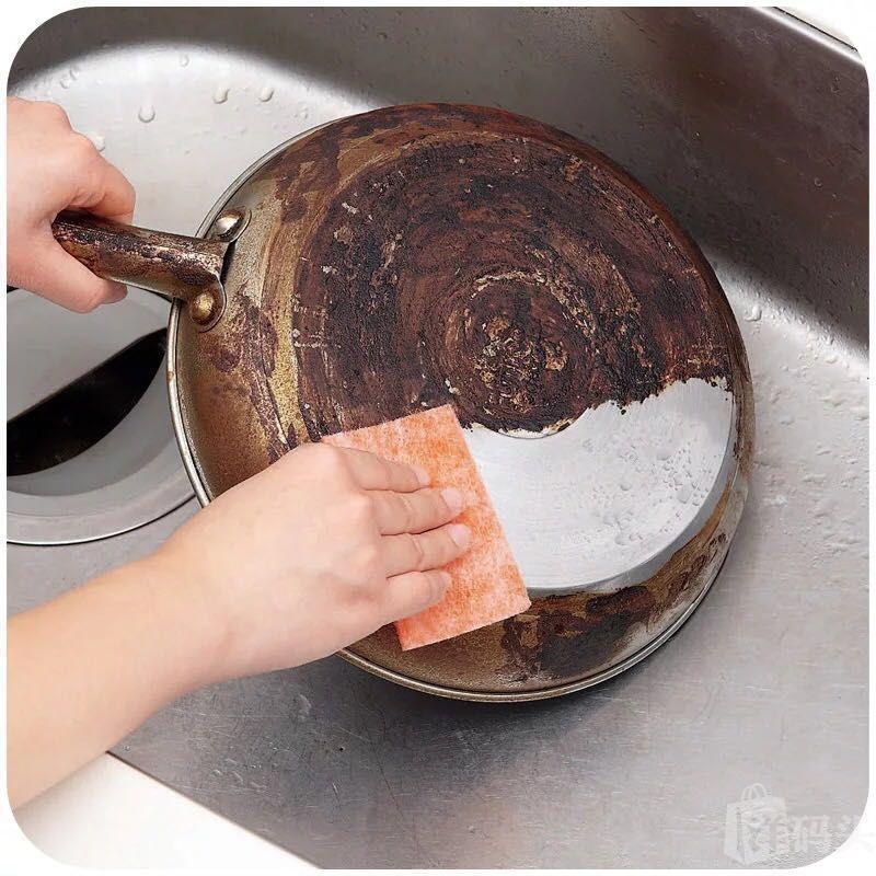 日本金刚砂海绵擦去污神器魔力擦厨房清洁用品刷锅洗碗布20片