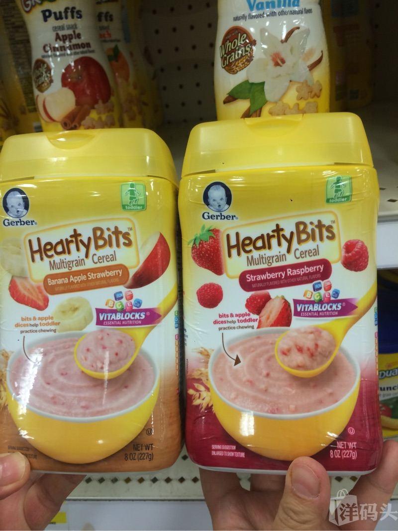 Gerber嘉宝苹果香蕉草莓米粉 227克和草莓红莓米粉227克组合 3段