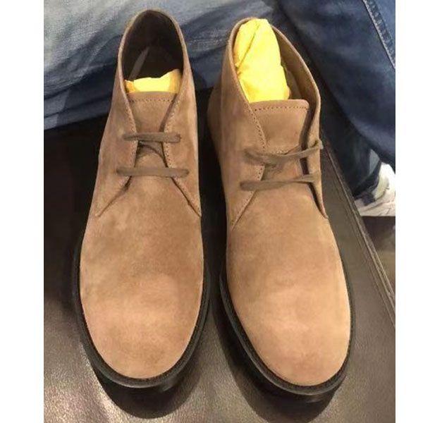 TOD'S/托德斯 男士短靴 绒面小牛皮沙漠靴子 爆抢款 有现货