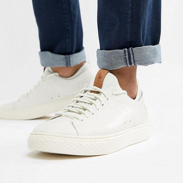 5色Ralph Lauren拉夫劳伦真皮休闲运动男鞋时尚街头板鞋Dunovin