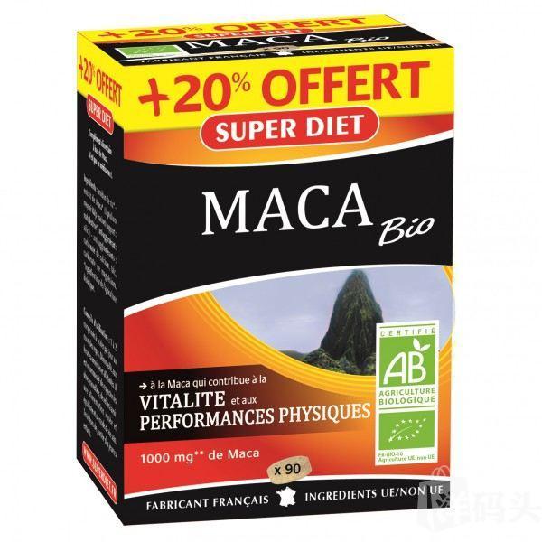 SUPER DIET 有机玛卡天然提取物补充片108片1000mg