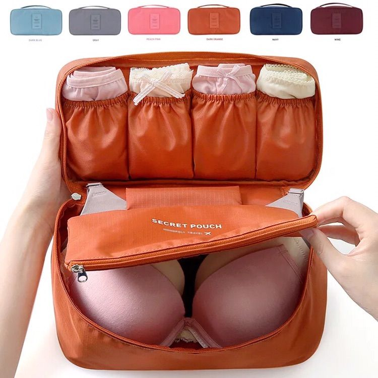 韩国收纳文胸女士旅行内衣包 纯色文胸袋