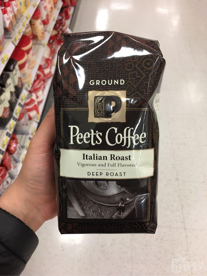美国毕兹咖啡Peet's Coffee 意式烘焙 Italian咖啡粉340g深度烘焙