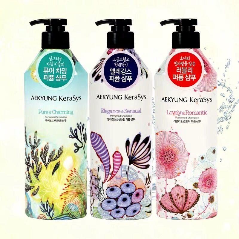 韩国爱敬Kerasys香水洗发水护发素套装持久留香女士香氛
