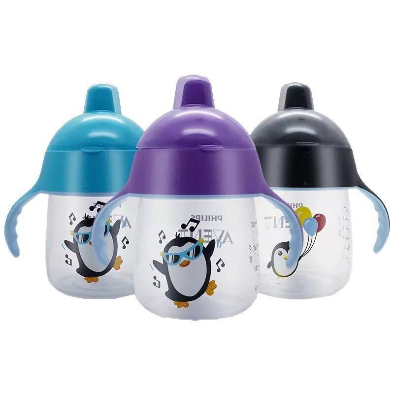 【安吉同款】美国进口AVENT新安怡鸭嘴杯 企鹅鸭嘴杯 宝宝学饮杯