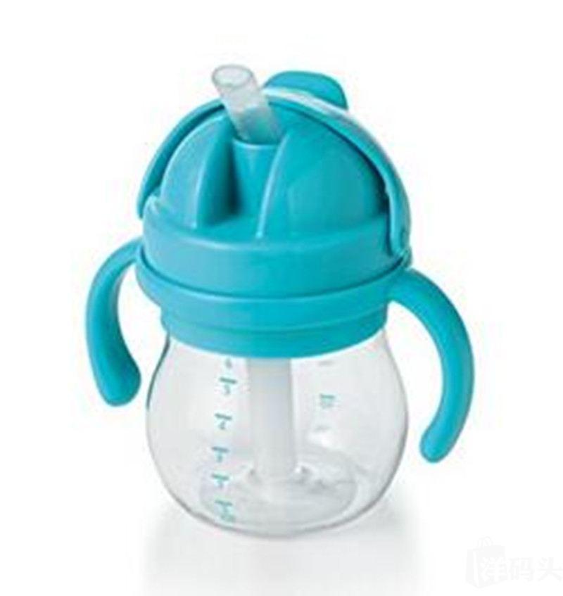 OXO tot吸管杯学饮训练杯水杯双手柄 150ml 8个月 蓝绿红三色