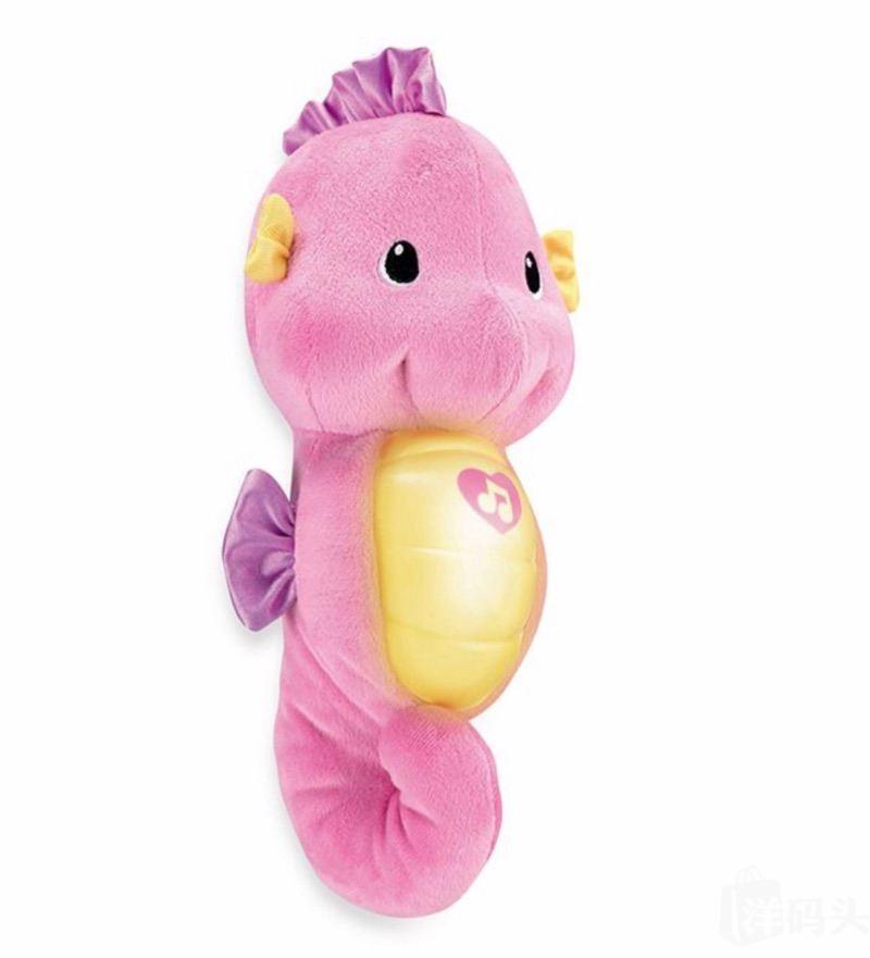 Fisher Price费雪海音乐安抚小海马婴幼儿胎教毛绒玩具 粉紫/蓝色