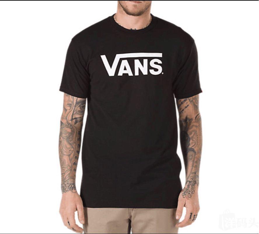男装 t恤/polo vans万斯/范斯男款短袖经典logo男士圆领t恤可搭配情侣