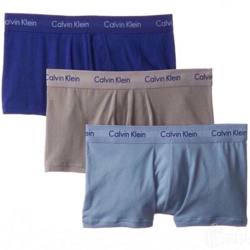 Calvin Klein CK透气男士纯棉四角平角内裤3条装 国内专柜一条260