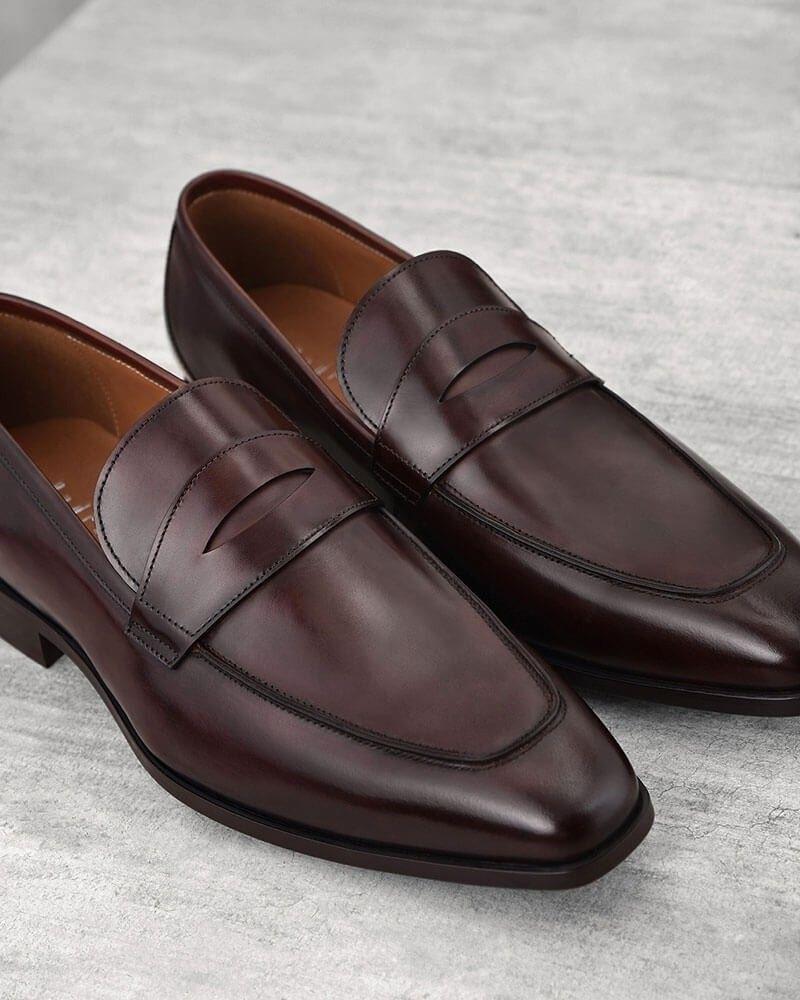pedro18秋抛光小牛皮舒适透气气质男士商务休闲皮鞋