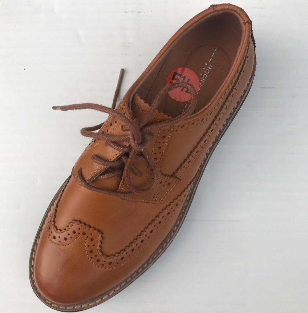 Adidas旗下商务大牌Rockport女士真皮超轻牛津鞋 专利气垫技术 35