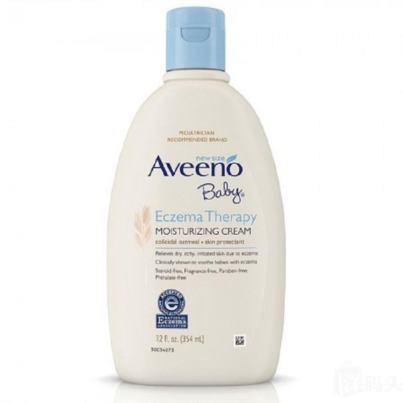 美国直邮Aveeno Baby婴儿天然燕麦舒缓保湿润肤面霜354ml